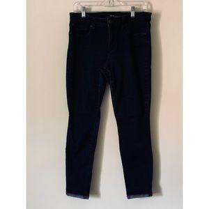 Gently worn Jean leggings with cute cuff detail